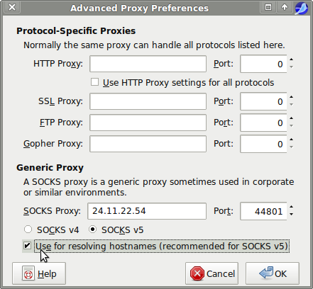 Socks proxy list