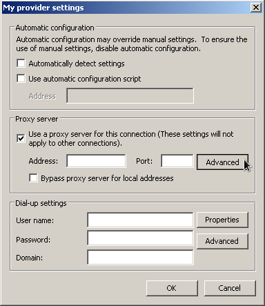 windows chrome provider settings